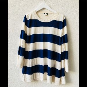 🎂 J Crew luxury stripped silk top M